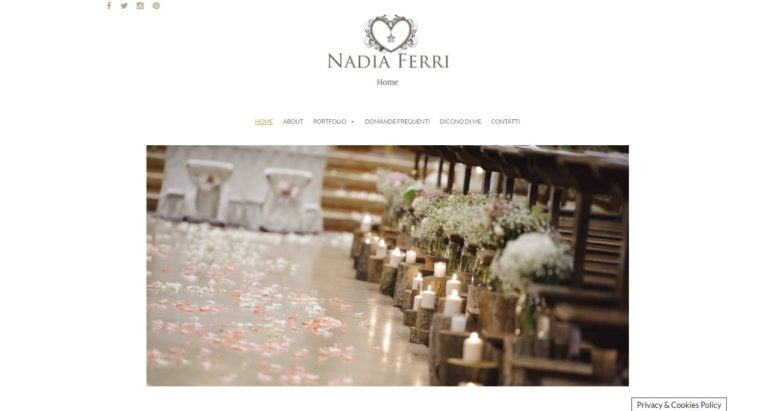 Nadia Ferri Wedding planner